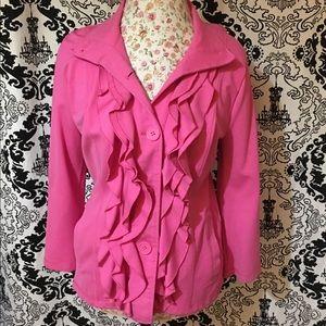 A Pink Ruffled Jacket